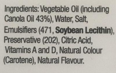 Dairy Free spread - Ingredients - en