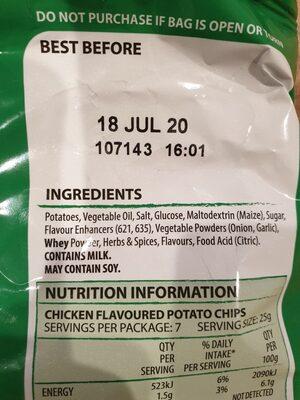 Thins Chicken Chips - Ingredients - en
