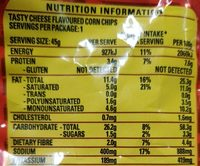 Tasty Cheese - Nutrition facts