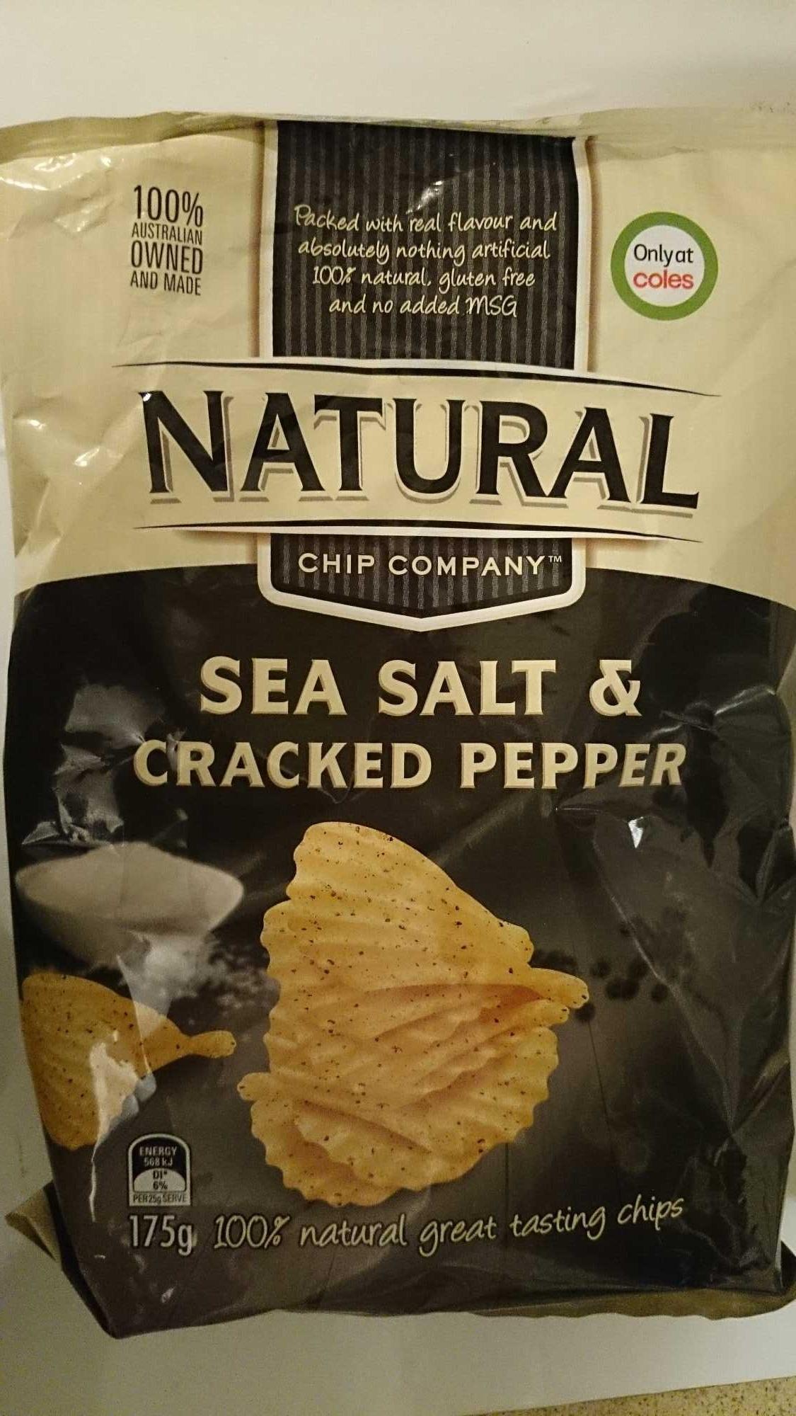 Natural Chip Company Sea Salt & Cracked Pepper - Product - en