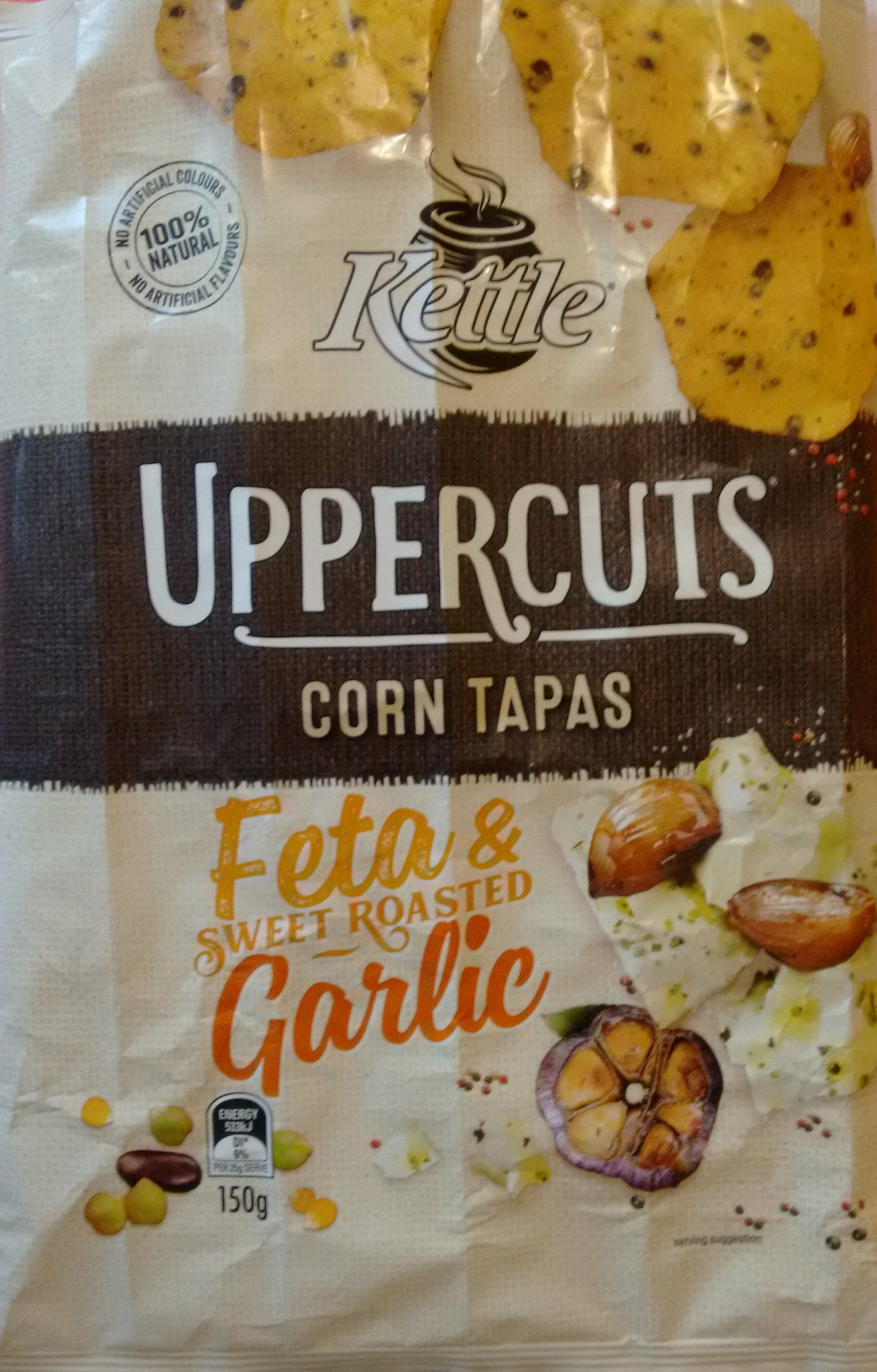 Uppercuts Feta & Roasted Garlic Flavoured Corn Chips - Product
