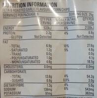 Uppercuts Feta & Roasted Garlic Flavoured Corn Chips - Nutrition facts - en