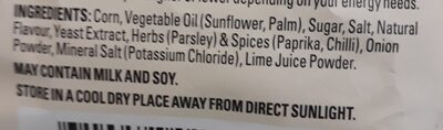 Natural Chip Co: tortilla strips - Ingredients