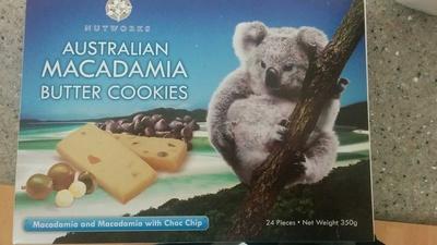 Australian macadamia butter cookies - Product - en