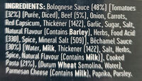 Beef Lasagne - Ingredients - en