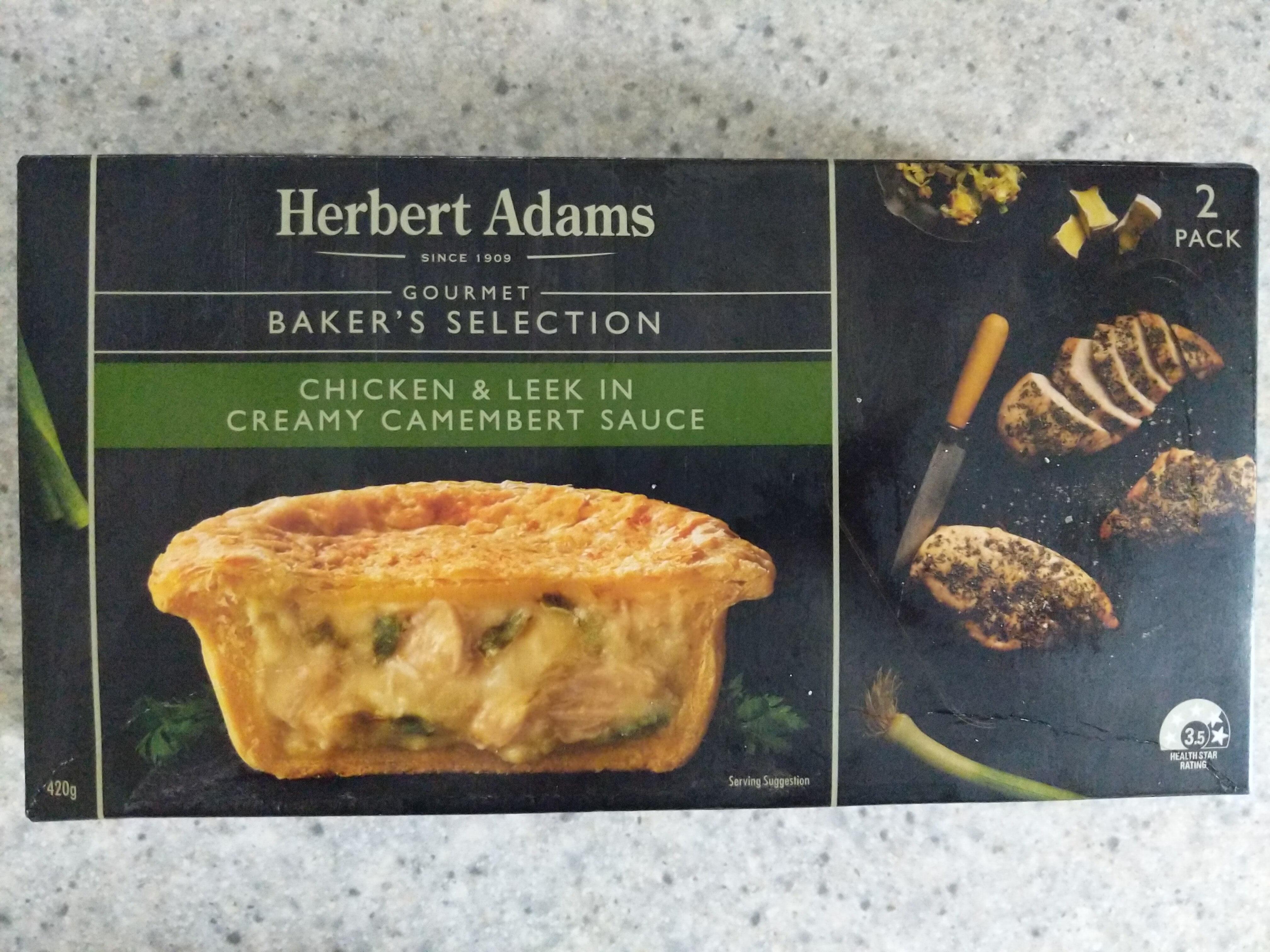 Chicken & Leek In Creamy Camembert Sauce Pie - Produit - en