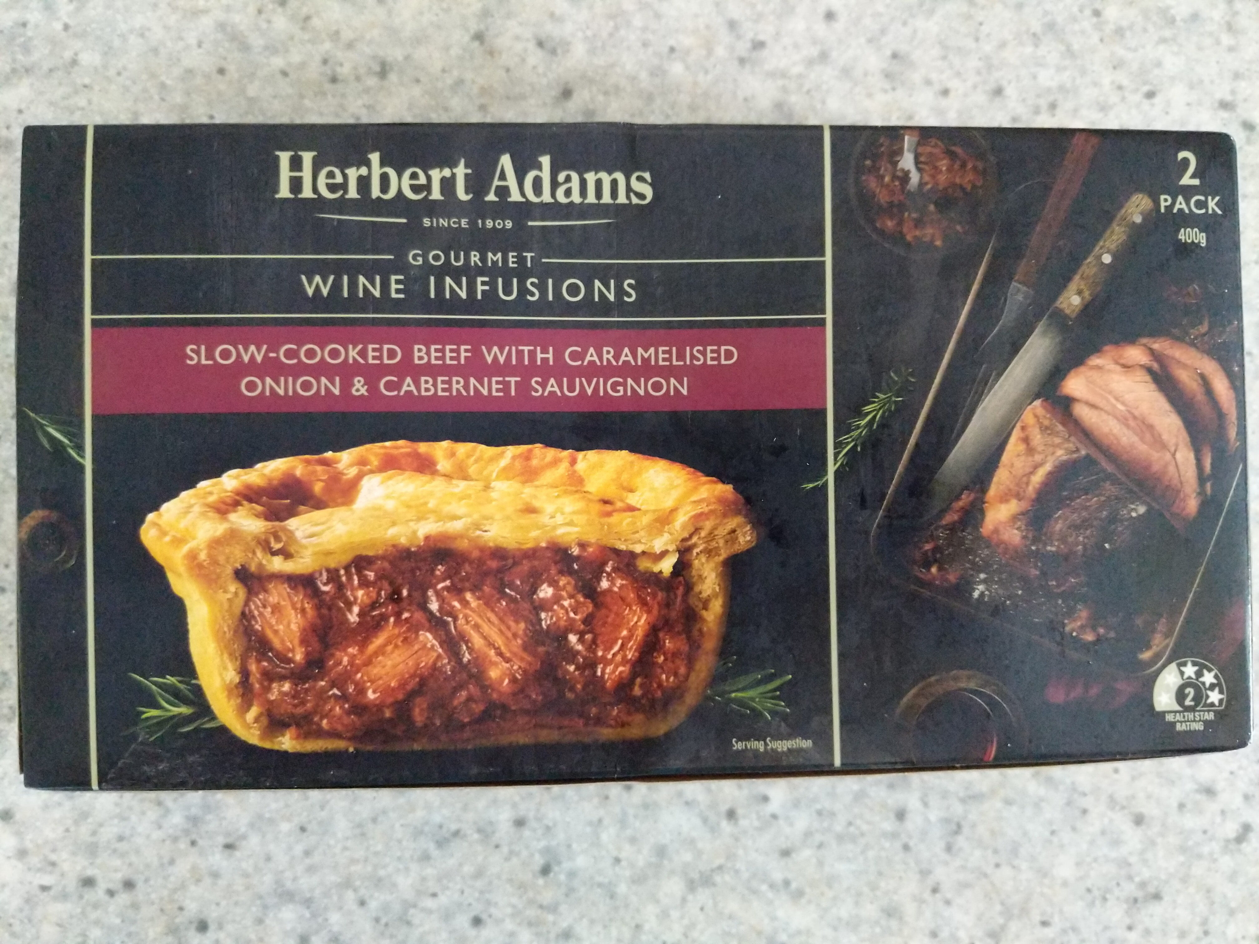 Slow-Cooked Beef With Caramelised Onion & Cabernet Sauvignon Pie - Product - en