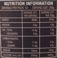 Greek Style Natural Yoghurt - Nutrition facts - en