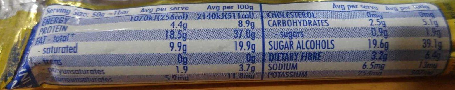 Sweet William Original - Nutrition facts - en