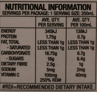 Nippy's All Australian Orange Juice - Nutrition facts - en