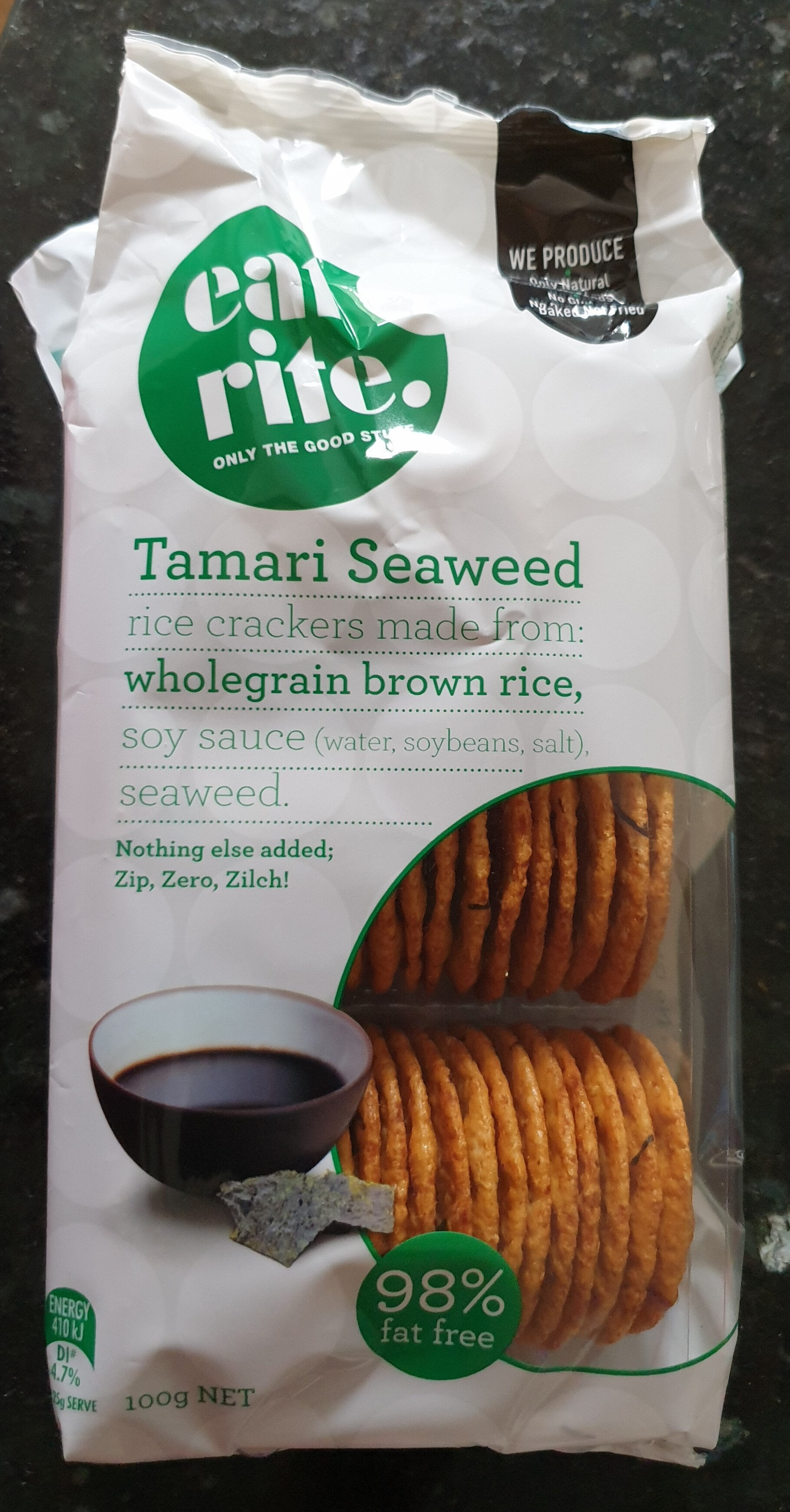 Tamari Seaweed Rice Crackers - Product - en