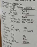 Gaucho's Chimmi Sauce - Nutrition facts