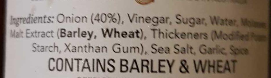 Caramelised Onion Sauce - Ingredients - en