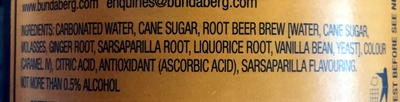 Root beer - Ingredients - en
