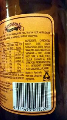 sarsaparilla - Ingredients - en