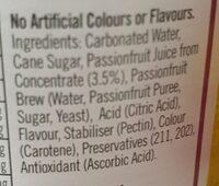 bundaberg passionfruit - Ingredients - en