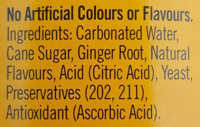 Ginger Beer - Ingrédients