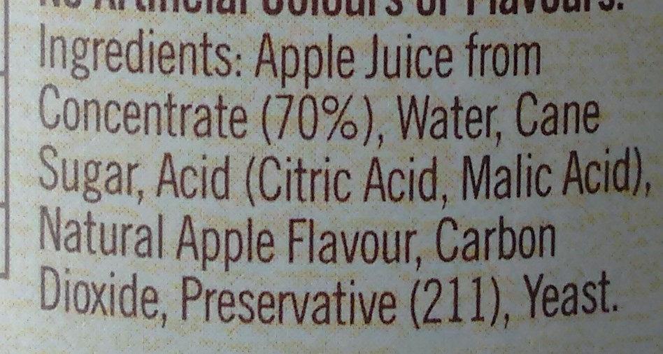 Apple Cider Brewed Softdrink - Ingredients - en