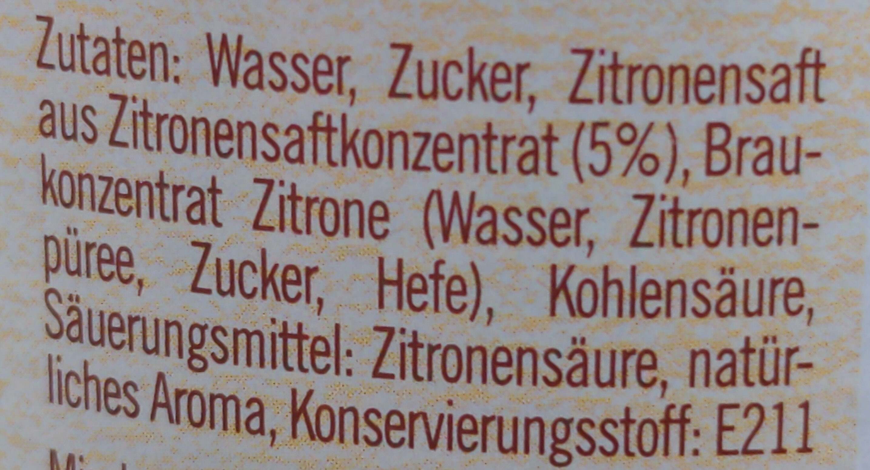 Lemon Brew - Ingredienti - de