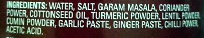 Rogan Josh Curry Paste Medium - Ingredients - en