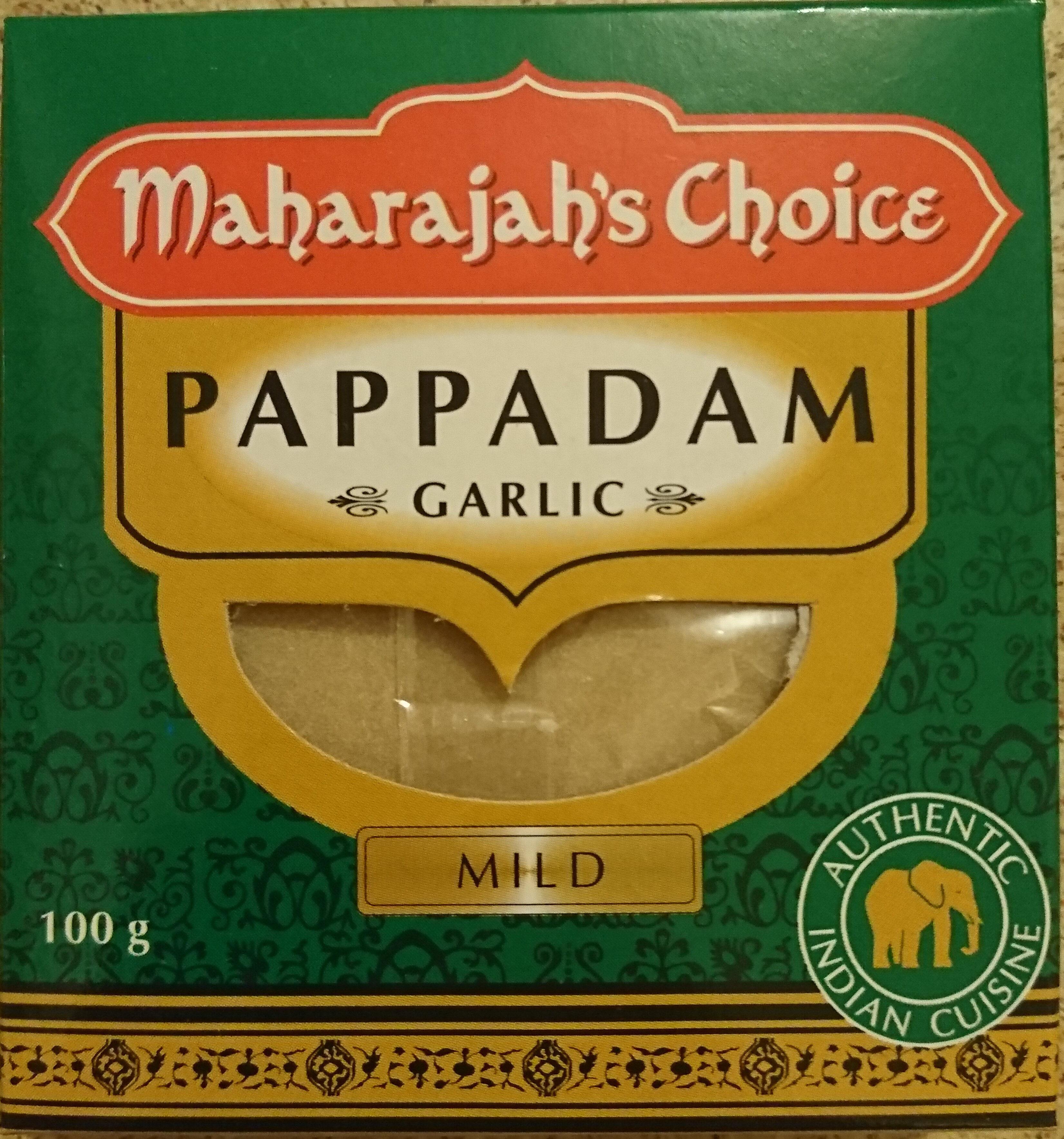 Pappadam Garlic Mild - Prodotto - en