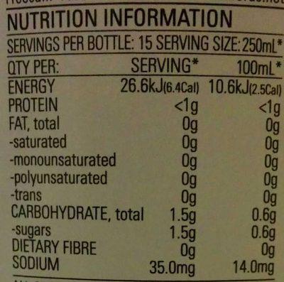 Diet Lime Cordial - Nutrition facts - en