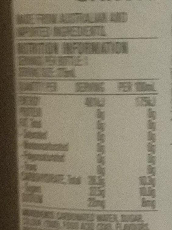 Traditional Soda - Sasparilla - Nutrition facts