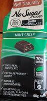 dark chocolate mint Crisp - Product - en