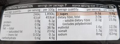 dark chocolate mint Crisp - Nutrition facts - en