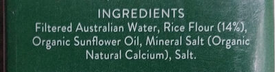 Organic Rice Milk - Ingrediënten - en