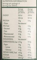 Organic Rice Milk - Nutrition facts - en
