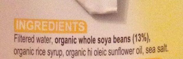 Organic Nature's Soy Milk No Added Caned Sugar Original - Ingredients - en