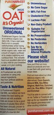 Oat Milk it's Organic Unsweetened Original - Ingrédients - fr