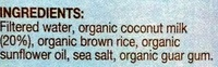 Coco Quench Coconut Milk - Ingredients