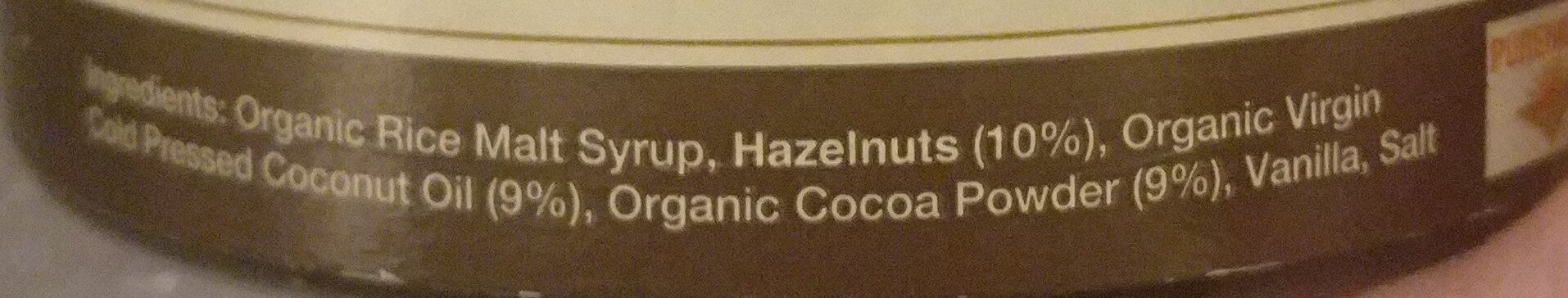 Coco2 Hazelnut Spread 240GM - Ingrédients - en