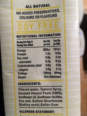 Bonsoy Almond Milk - Nutrition facts - en