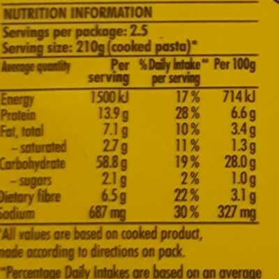 Latina Fresh Roast Chicken & Garlic Ravioli - Nutrition facts - en
