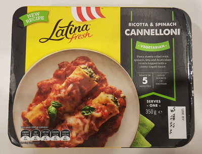 Ricotta & Spinach Cannelloni - Product - en