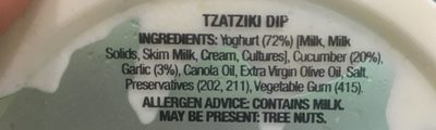 Tzatziki - Ingredients - fr