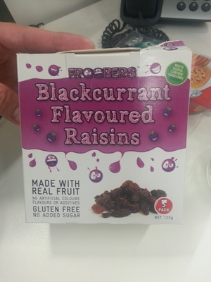 Black current flavoured raisins - Product