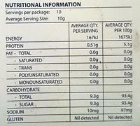 Calais Pavlova Nests - Nutrition facts - en