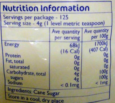 Caster Sugar - Ingredients