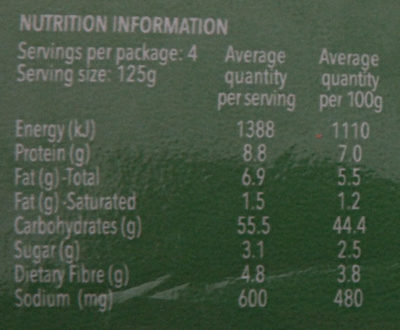 Fresh Roti Original - Nutrition facts - en