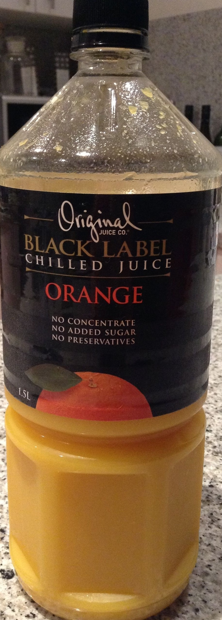 Original juice co- black label ORANGE - Product - en