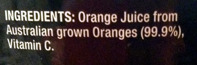 Original juice co- black label ORANGE - Ingredients - en
