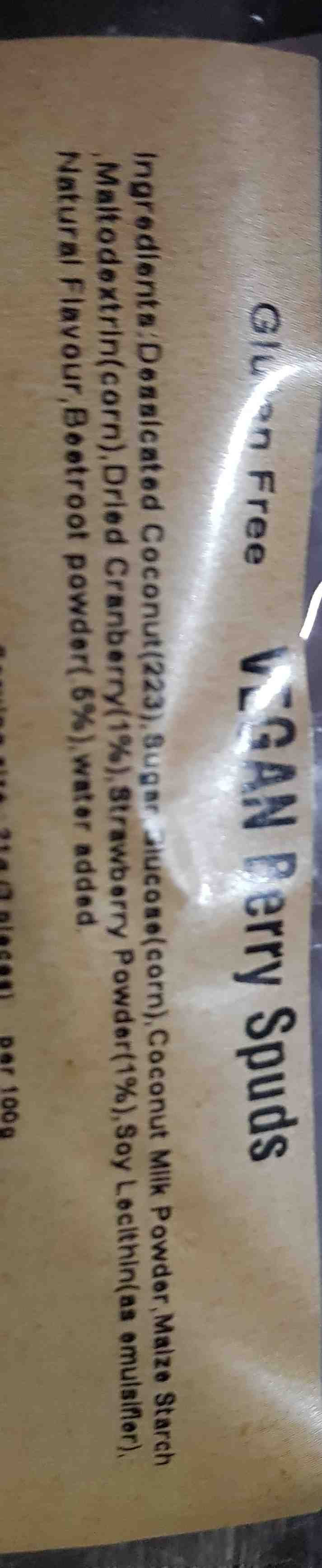 vegan coconut spuds Australia - Ingredients