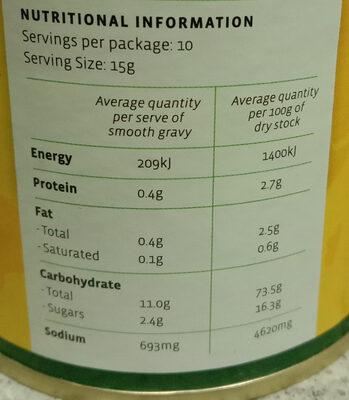Chicken instant gravy mix - Nutrition facts - en
