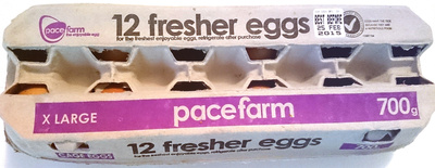 Pace Farm 12 Fresher Eggs X-Large - Product
