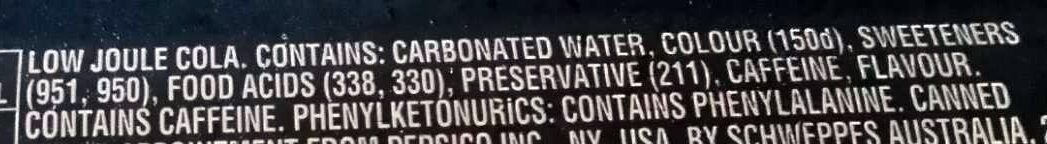Pepsi Max - Ingredients - en