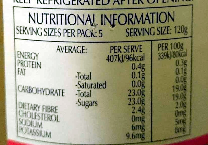 Appelmoes Applesauce Traditional Dutch Recipe - Nutrition facts - en